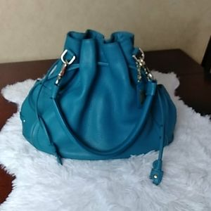 Cole Haan turquoise leather shoulder bag